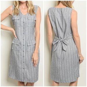 Dresses & Skirts - BLACK WHITE STRIPES DRESS